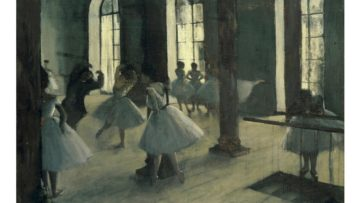 Edgar Degas - Practicing in the Rehearsal Room