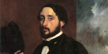 Edgar Degas - Self-Portrait (detail), photo credits sh.wikipedia.org