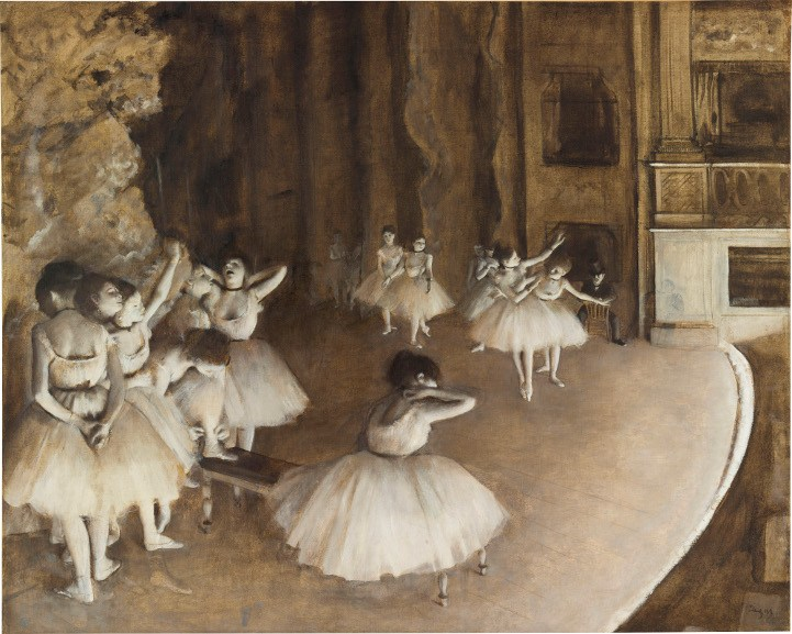 Edgar Degas - The Ballet Rehearsal on Stage