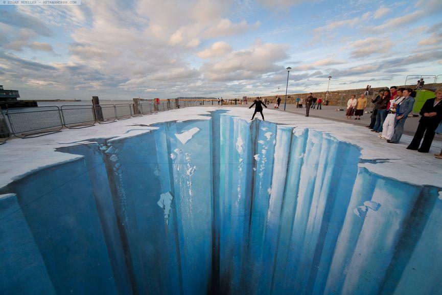 illusions books Edgar Mueller - The Crevasse, via metanamorph com