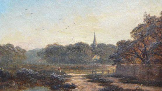 Edmund John Niemann - English Landscape (detail)