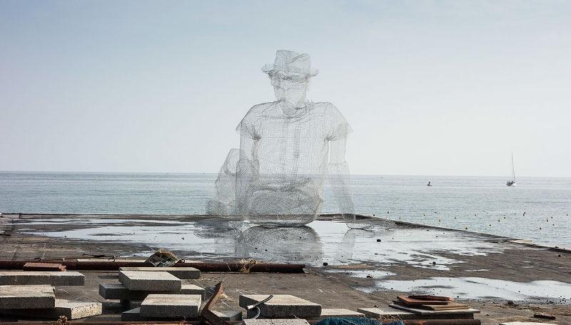 Edoardo Tresoldi - Thinkings – Oltre il Muro 2014, Sapri