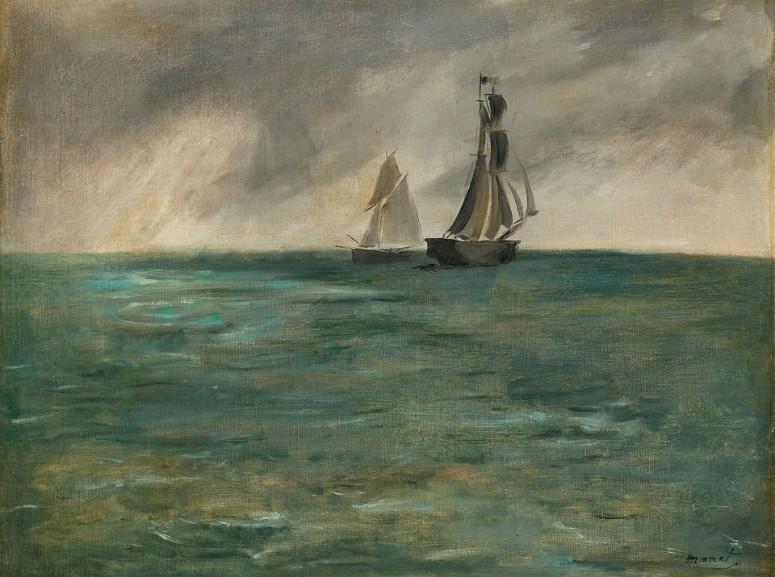 Edouard Manet - Sailing Ships at Sea