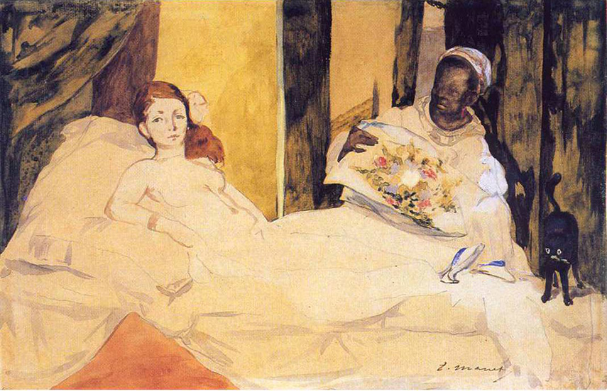 Edouard Manet - Study of Olympia for nude Manet's painting in 1863