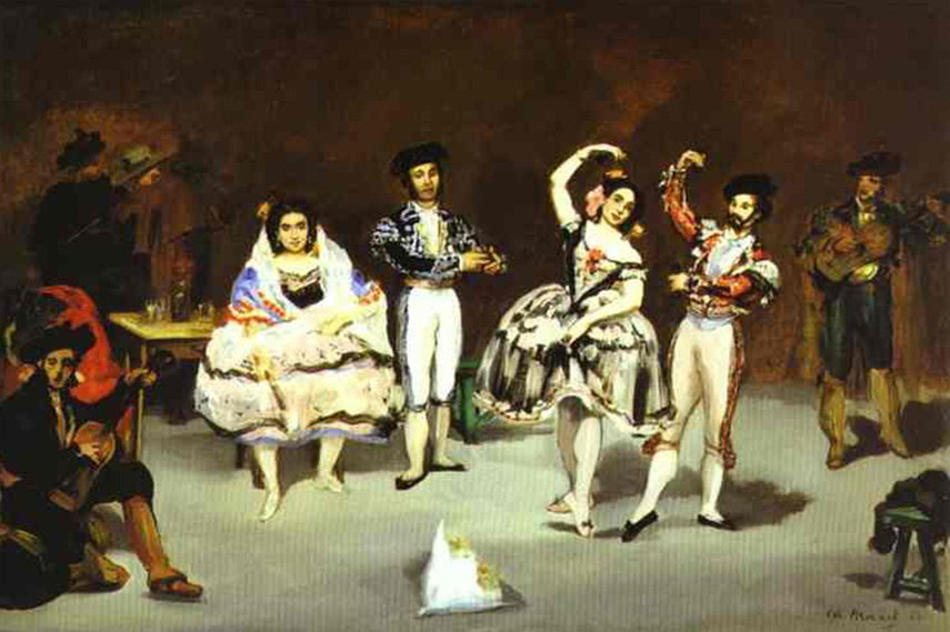 Édouard Manet - The spanish ballet, painted 1862 bar folies