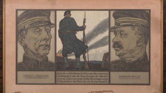 Eduard Renggli - WWI Propaganda Poster - Image via bidsquare