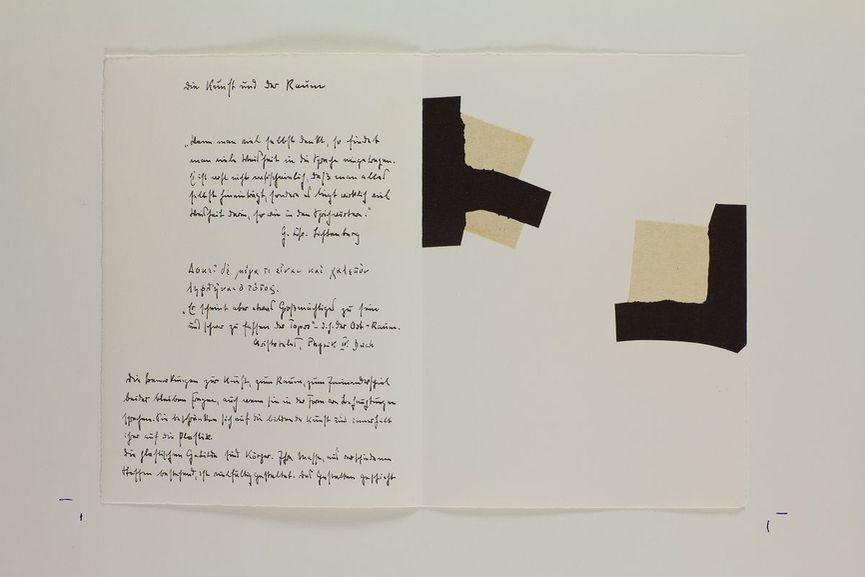 Eduardo Chillida / Martin Heidegger -Art and Space (Die Kunst und der Raum), 1969