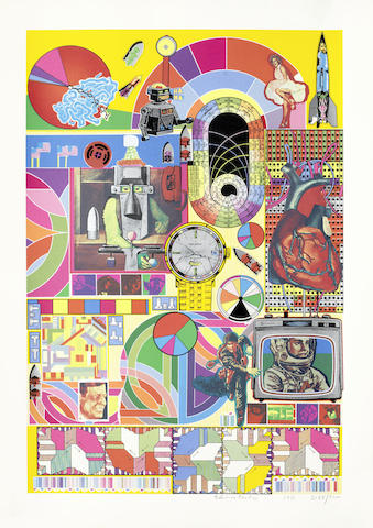 Eduardo Paolozzi-B.A.S.H. (Orange, Pale Pink, Orange)-1971