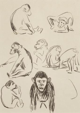 Edvard Munch-Apes I-1908