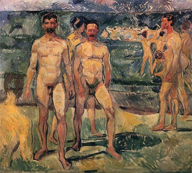 Edvard Munch - Bathing Men, 1907-08