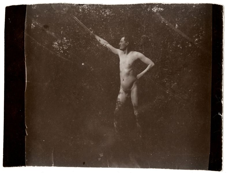 Edvard Munch Posing Nude in Åsgårdstrand, 1903; in the new museum