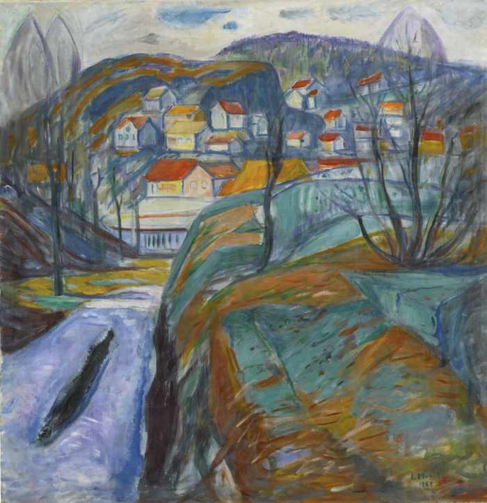 Edvard Munch-Kragero Om Varen (Kragero In Spring)-1929