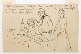 Munch at Dr. Jacobson's Clinic, 1908–1909
