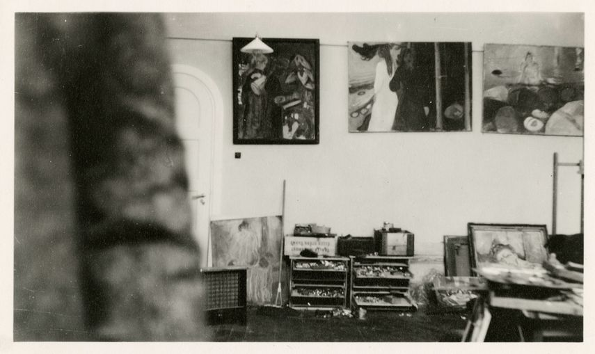 Paintings in the Winter Studio in Ekely, 1931-32