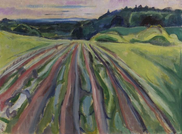 Edvard Munch-Ployemark (Ploughed Field)-1916