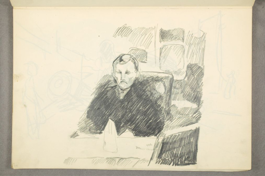 Self-Portrait at the Table, 1912–1913