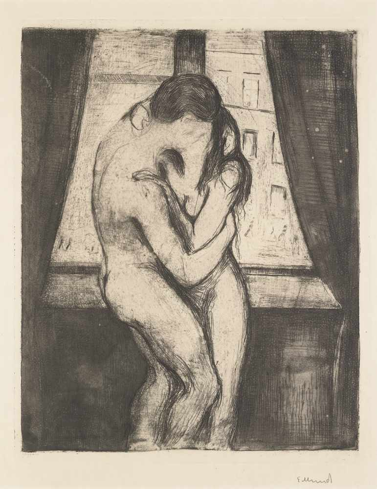 Edvard Munch-The Kiss-1895