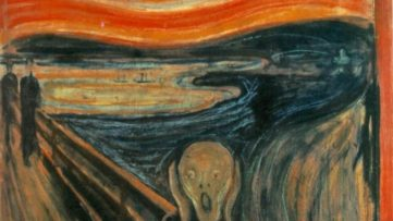 Edvard Munch - The Scream detail
