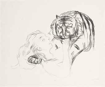 Edvard Munch-Tigeren, from: Alfa og Omega-1909