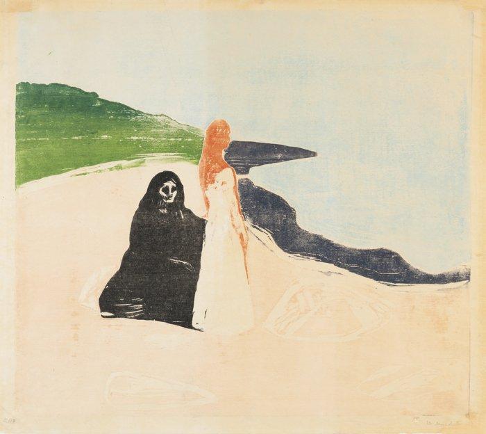 Edvard Munch-Two Women On The Shore-1898
