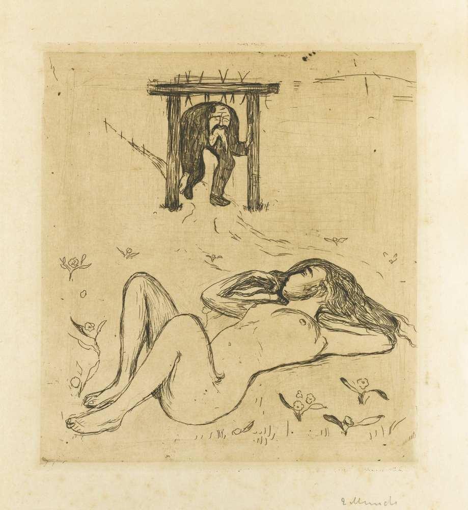 Edvard Munch-Under The Yoke-1896