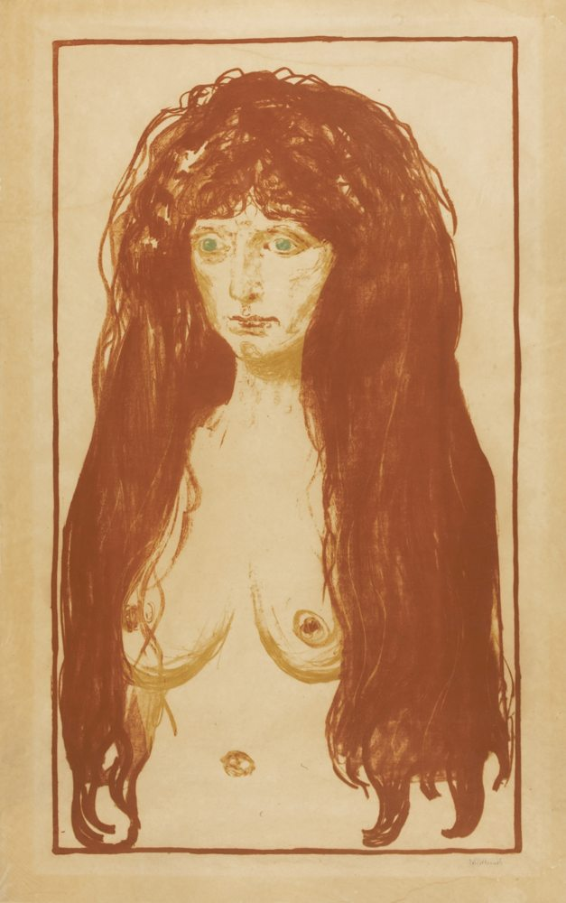 Edvard Munch-Woman With Red Hair And Green Eyes. The Sin-1902