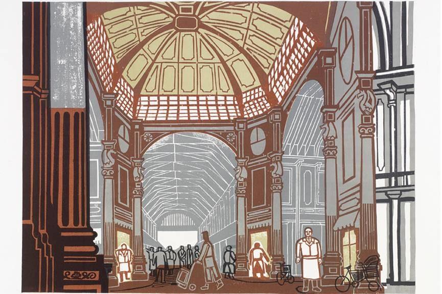 Edward Bawden - Leadenhall Market, 1967, Courtesy Osborne Samuel