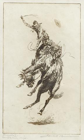 Edward Borein-Scratchin' High (Bronco #1)-1920