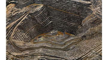 Edward Burtynsky - Highland Valley #8, Teck Cominco, Open Pit Copper Mine, Logan Lake, British Columbia, Canada, 2008