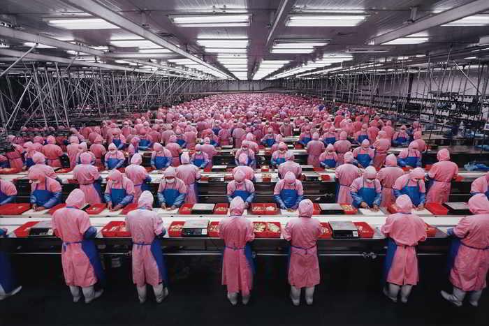 Edward Burtynsky-Manufacturing #17, Deda Chicken Processing Plant, Dehui City, Jilin Province, China-2005