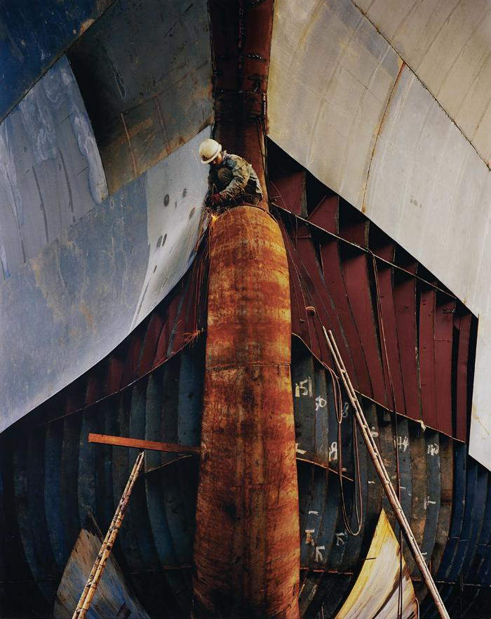 Edward Burtynsky-Shipyard #18, Qili Port, Zhejiang Province, China-2005