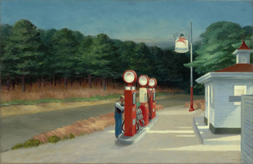 Edward Hopper - Gas, 1940