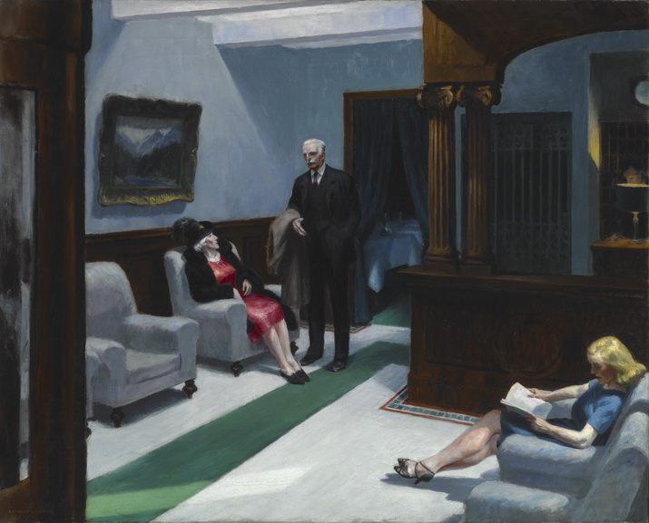 Edward Hopper - Hotel Lobby