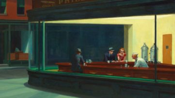 Nighthawks (detail), 1942, New York