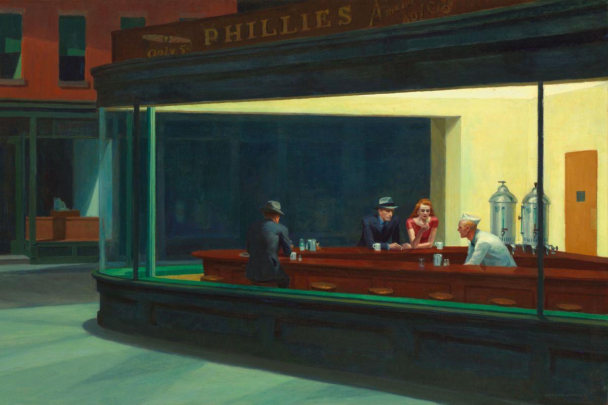 Nighthawks (detail), 1942, New York
