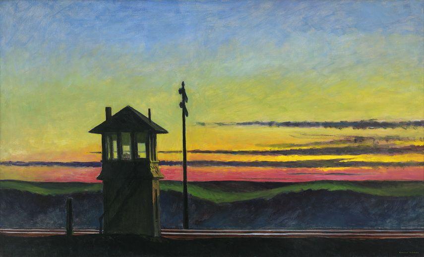 Edward Hopper - Railroad Sunset