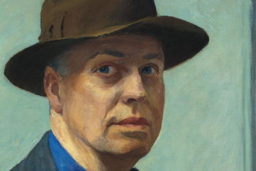 Edward Hopper - Self Portrait (1925-1930) detail cape home Museum
