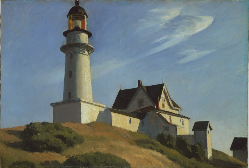 Edward Hopper - The Lighthouse Museum at Two Lights - Image via metmuseum.org