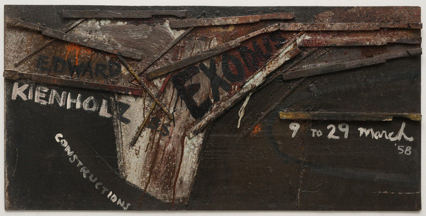 Edward Kienholz - Exodus, 1958, works and work in angeles new gallery hopps, american angeles works