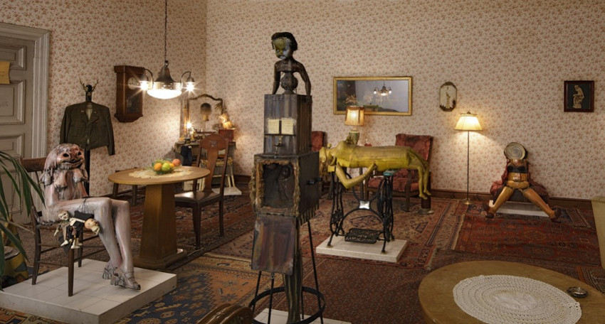 Edward Kienholz - Roxys, 1960-61, new exhibition of american work assemblage and works of 1966 in los angeles gallery hopps