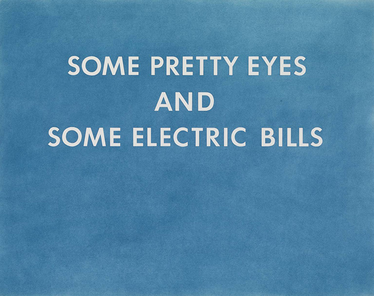 Ed Ruscha - Pretty Eyes, Electric Bills, 1976