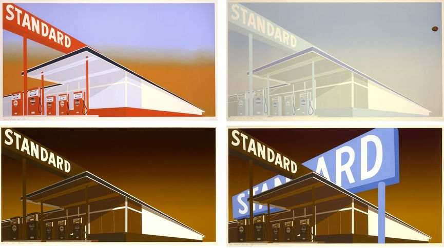 Ed Ruscha made an array of Standard gas stations in search of the best portrayal of the American symbol