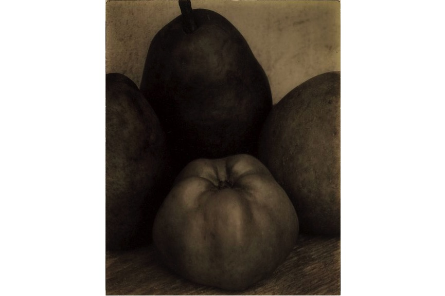 Edward Steichen - Three Pears and an Apple, France, about 1921, from Howard Greenberg Gallery, New York on view at MFA