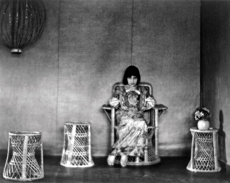 Edward Weston - Portrait of Tina Modotti in house in Glendale Glendale by Weston, California, 1922