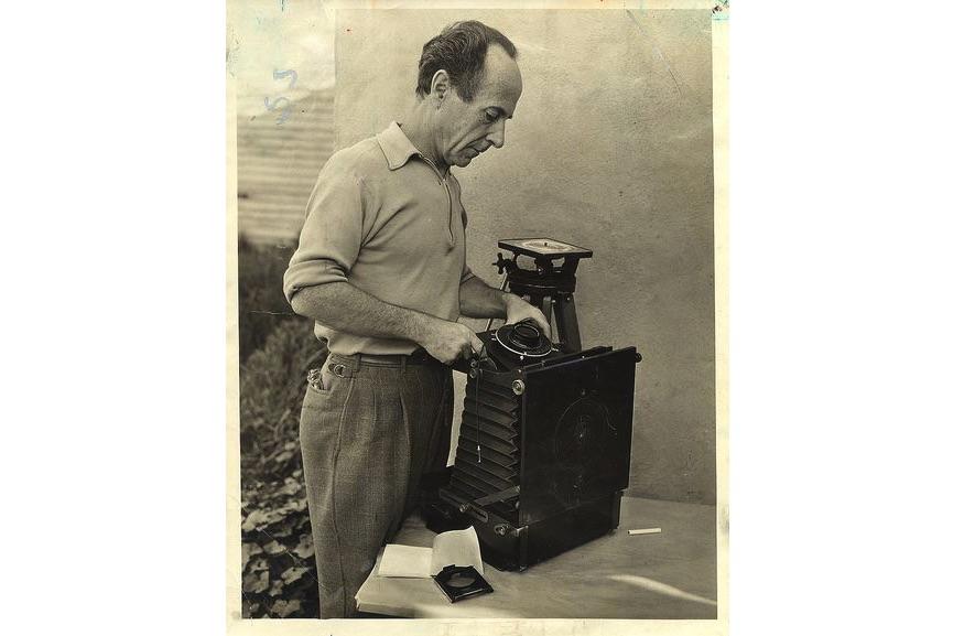 Edward Weston after receiving a Guggenheim Fellowship in 1937