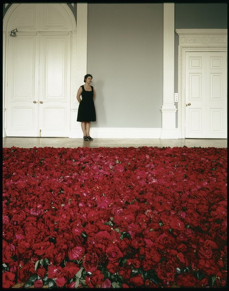 Edward Woodman - Anya Gallaccio photographed with Red on Green