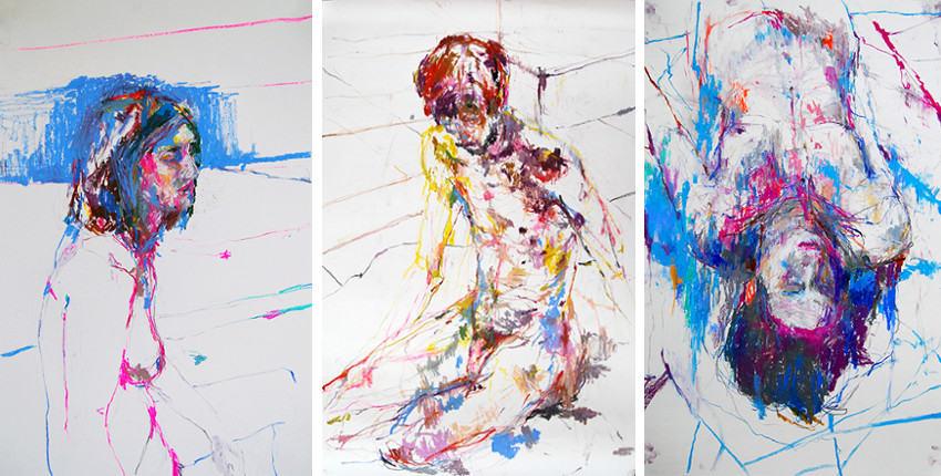 Edwige Fouvry - Mélancolie, 2014 - Guillaume Accroupi, 2013 - Jeanne, 2014