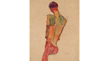 Egon Schiele - Male Nude, Back View, 1910