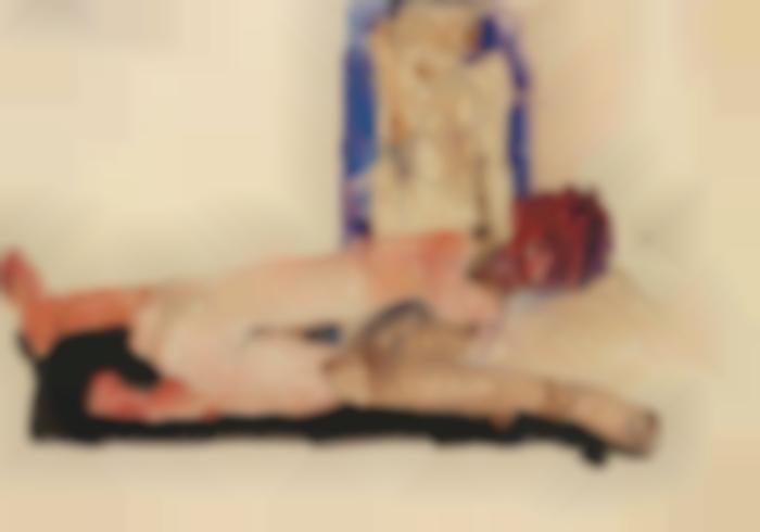 Egon Schiele-Nacktes Paar (Nude Couple)-1911