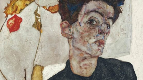 Egon Schiele - Self-Portrait with Physalis (detail) - 1912